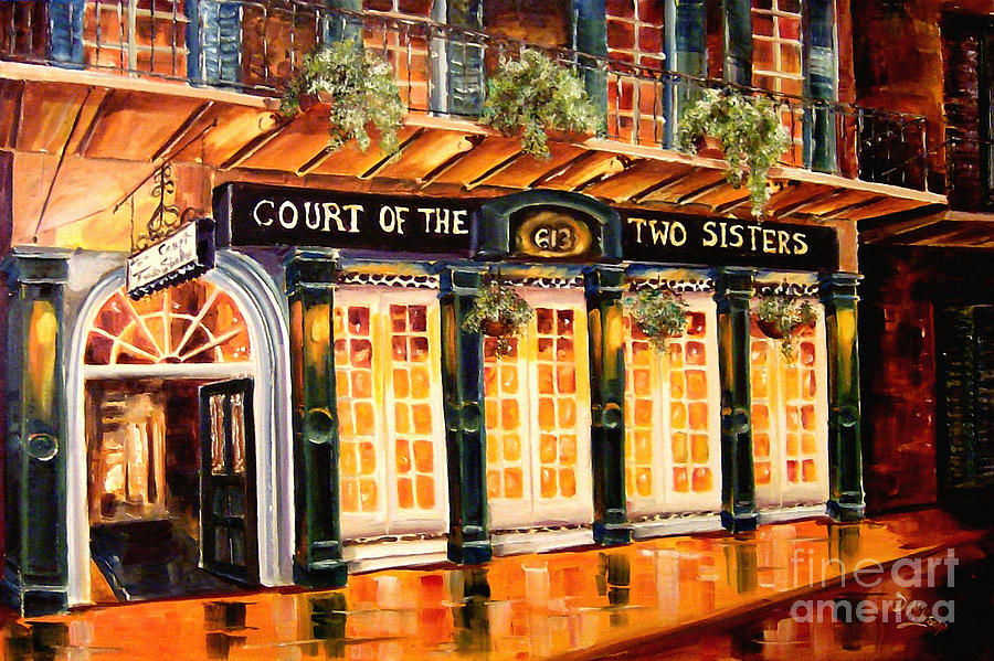 Court Of The Two Sisters Painting