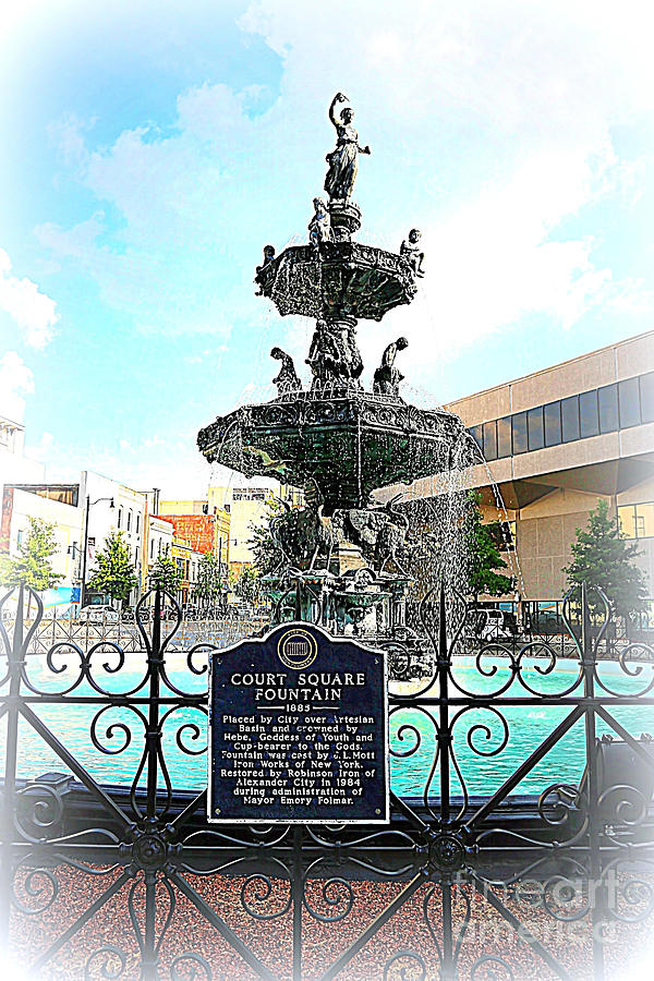 Court Square Fountain Photograph