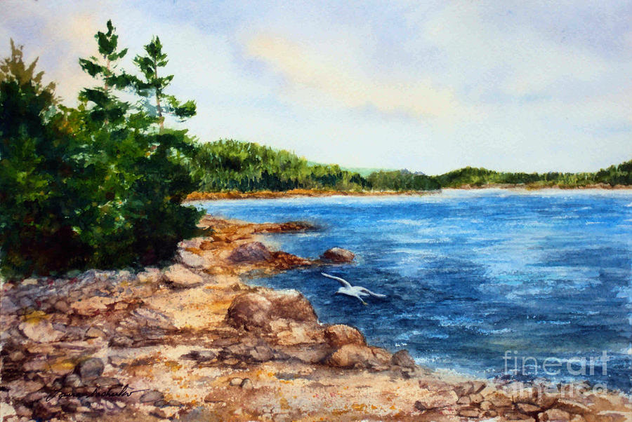 Cove Shore Painting  - Cove Shore Fine Art Print