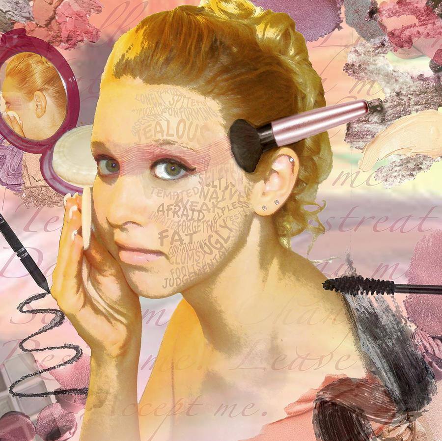 Cover Up My Insecurities Digital Art By Lauren Webb