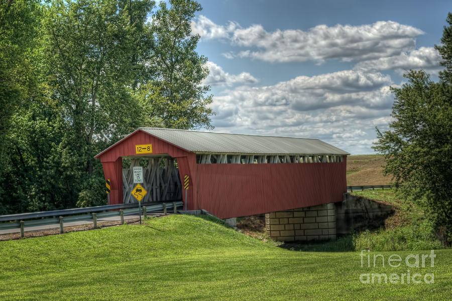 Covered Bridge In Ohio Photograph  - Covered Bridge In Ohio Fine Art Print