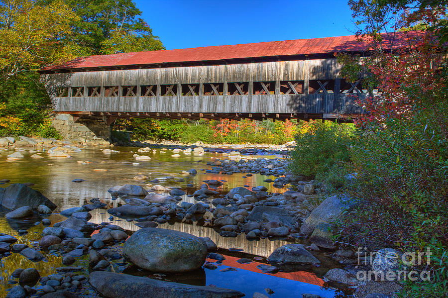 Covered Bridge Over Swift River Photograph