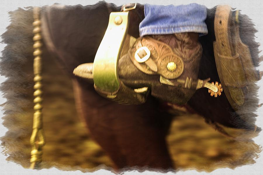 Apparel Photograph - Cowboy Boot by Carson Ganci