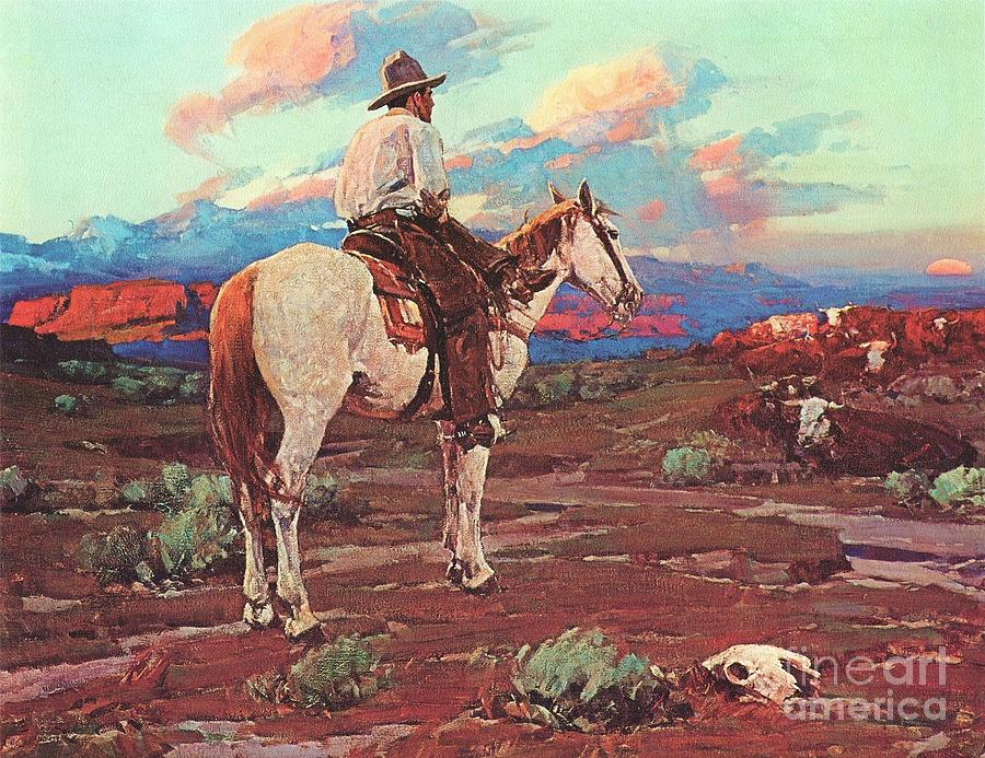 Cowboy Country Painting  - Cowboy Country Fine Art Print