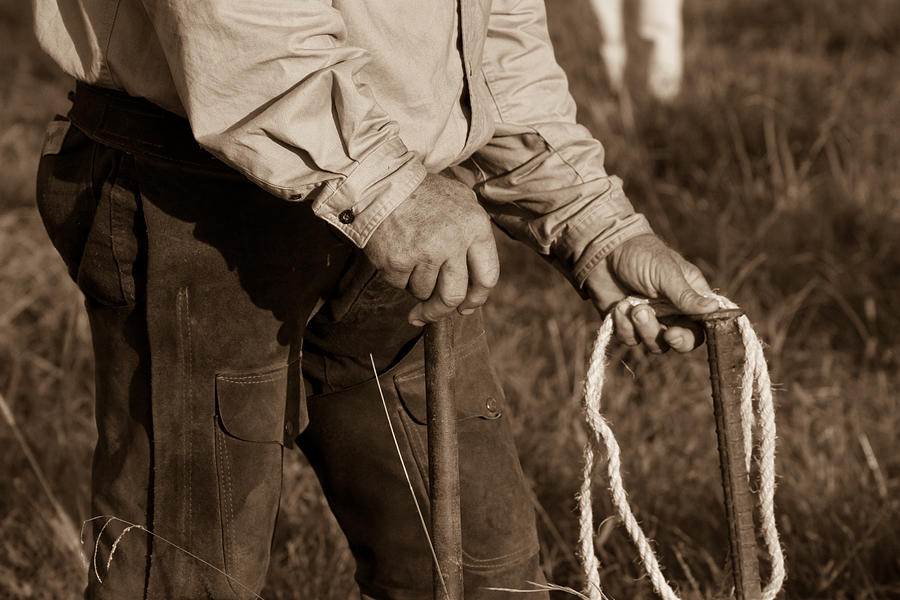 Cowboy Photograph - Cowboy Hands At Work by Toni Hopper