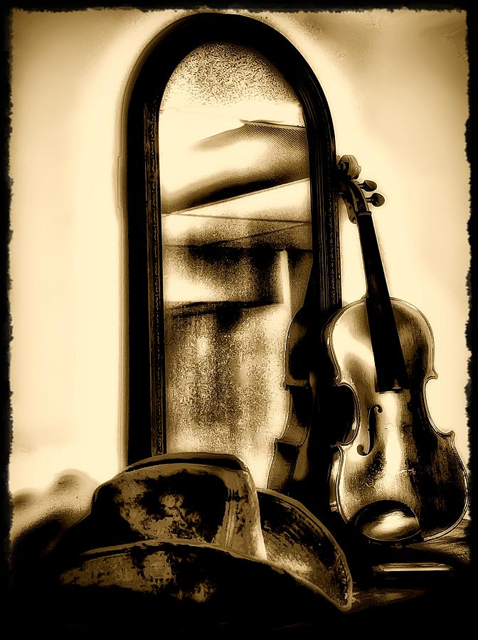 Cowboy Hat And Fiddle Photograph  - Cowboy Hat And Fiddle Fine Art Print