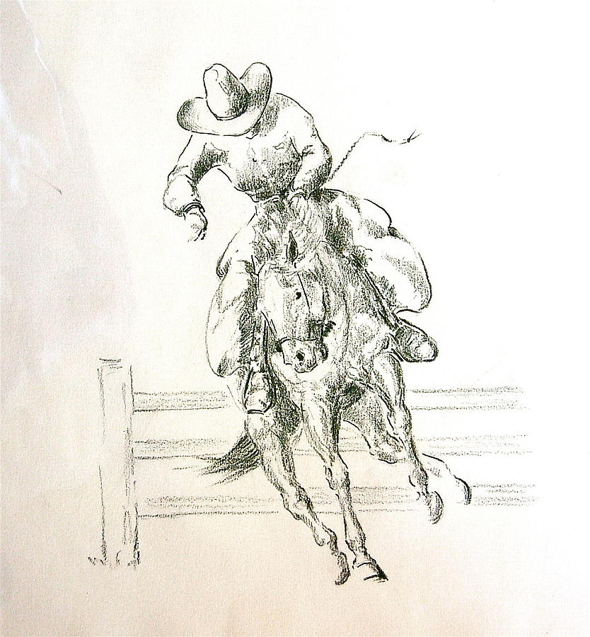 Cowboy On Bucking Horse By Smart Healthy Life