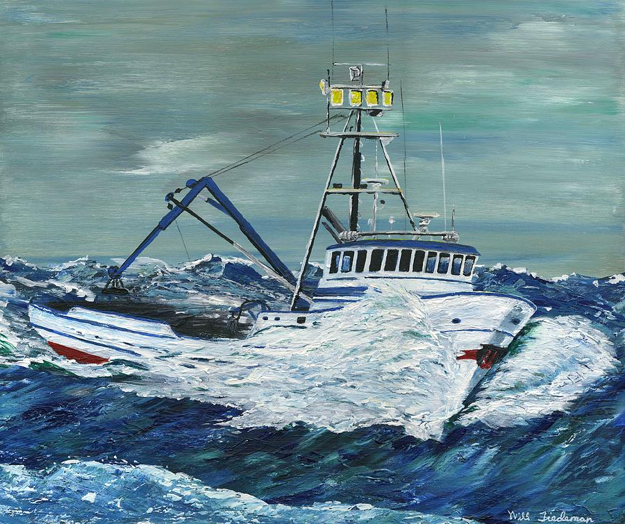 Crab boat by will tiedeman for Crab fishing boats for sale