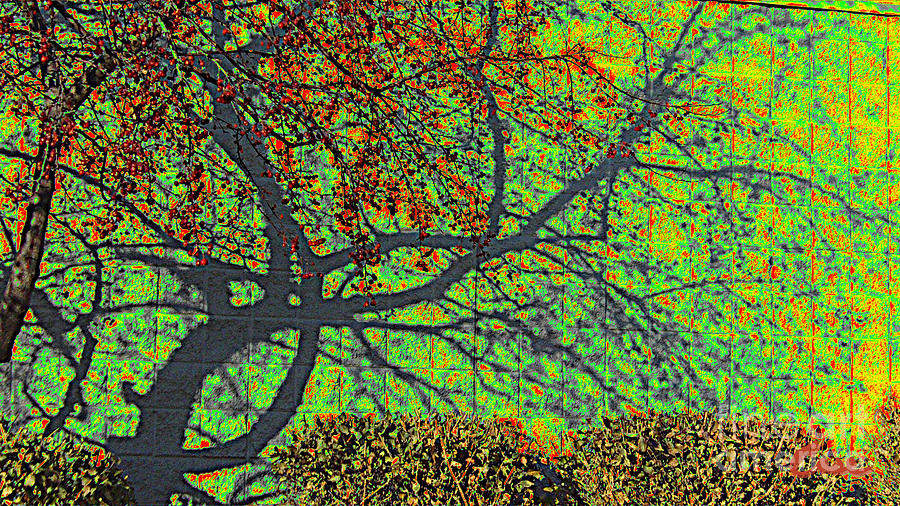 Crabapples West Acid Pop Digital Art  - Crabapples West Acid Pop Fine Art Print