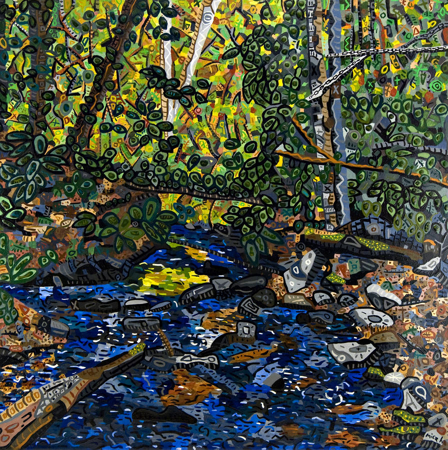 Crabtree Creek Painting  - Crabtree Creek Fine Art Print