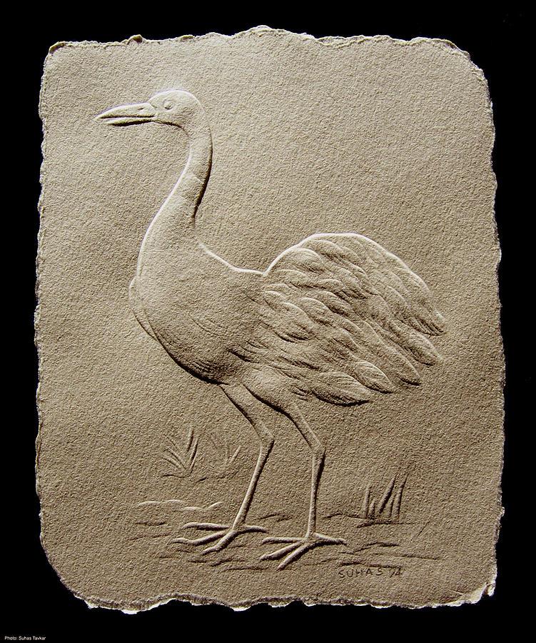 Crane Bird Relief