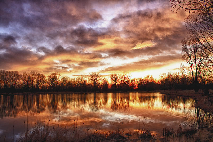 Hdr Photograph - Crane Hollow Sunrise Boulder County Colorado Hdr by James BO  Insogna