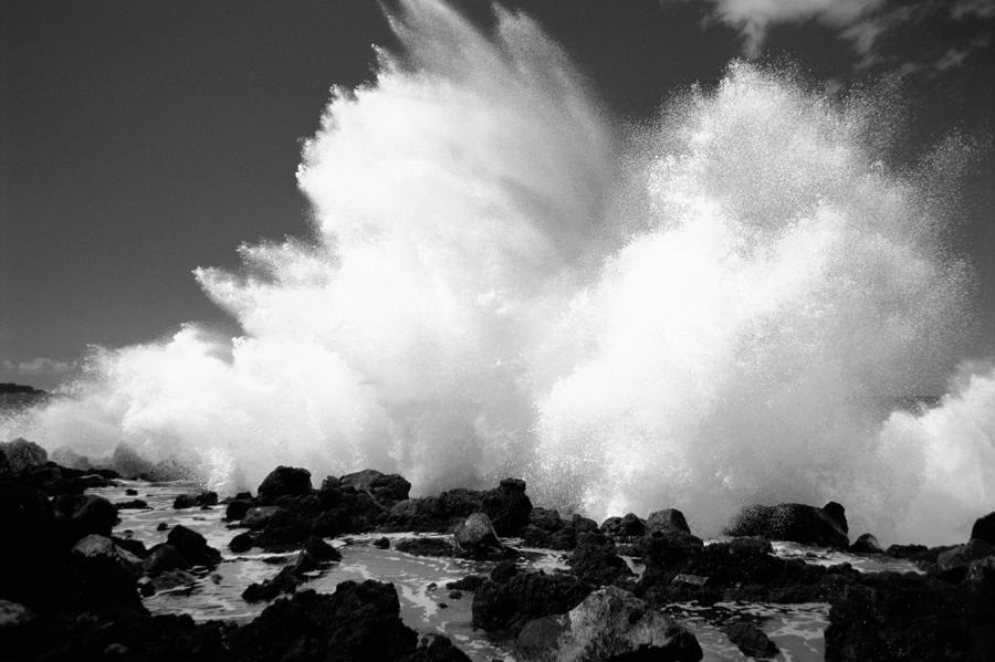 Crashing Wave - Bw Photograph  - Crashing Wave - Bw Fine Art Print