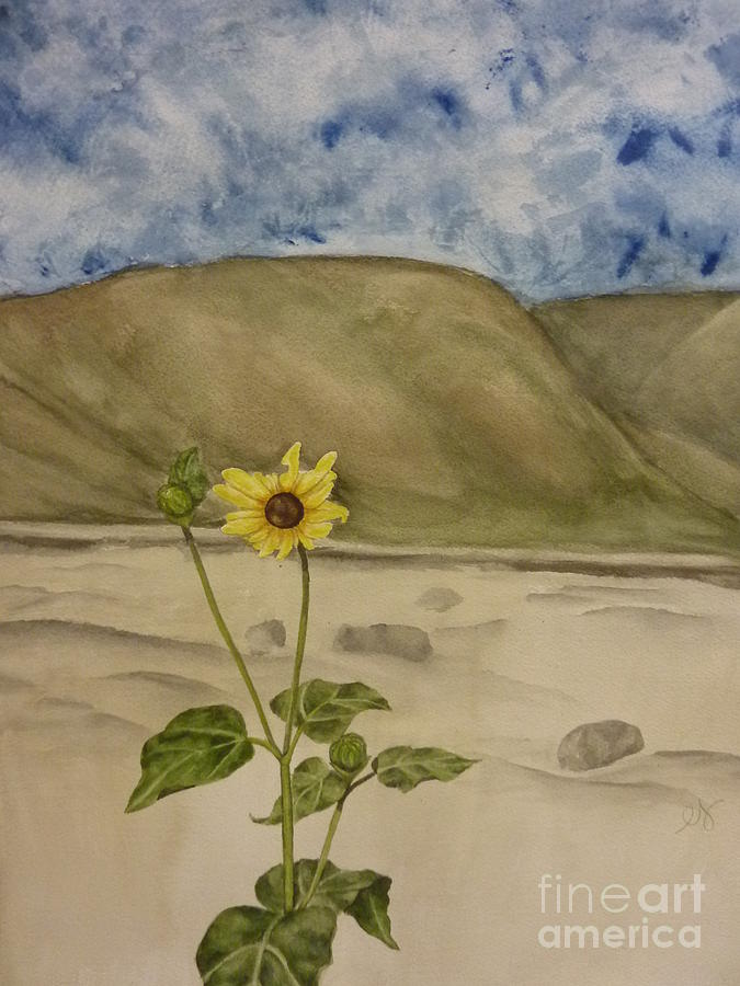 Craters Of The Moon Sunflower Painting