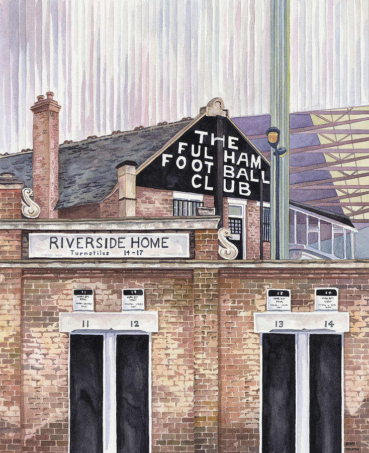 Craven Cottage Painting  - Craven Cottage Fine Art Print