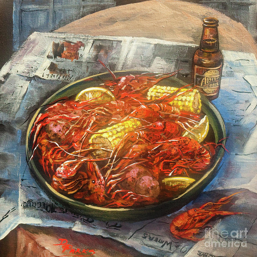 Crawfish Celebration Painting  - Crawfish Celebration Fine Art Print