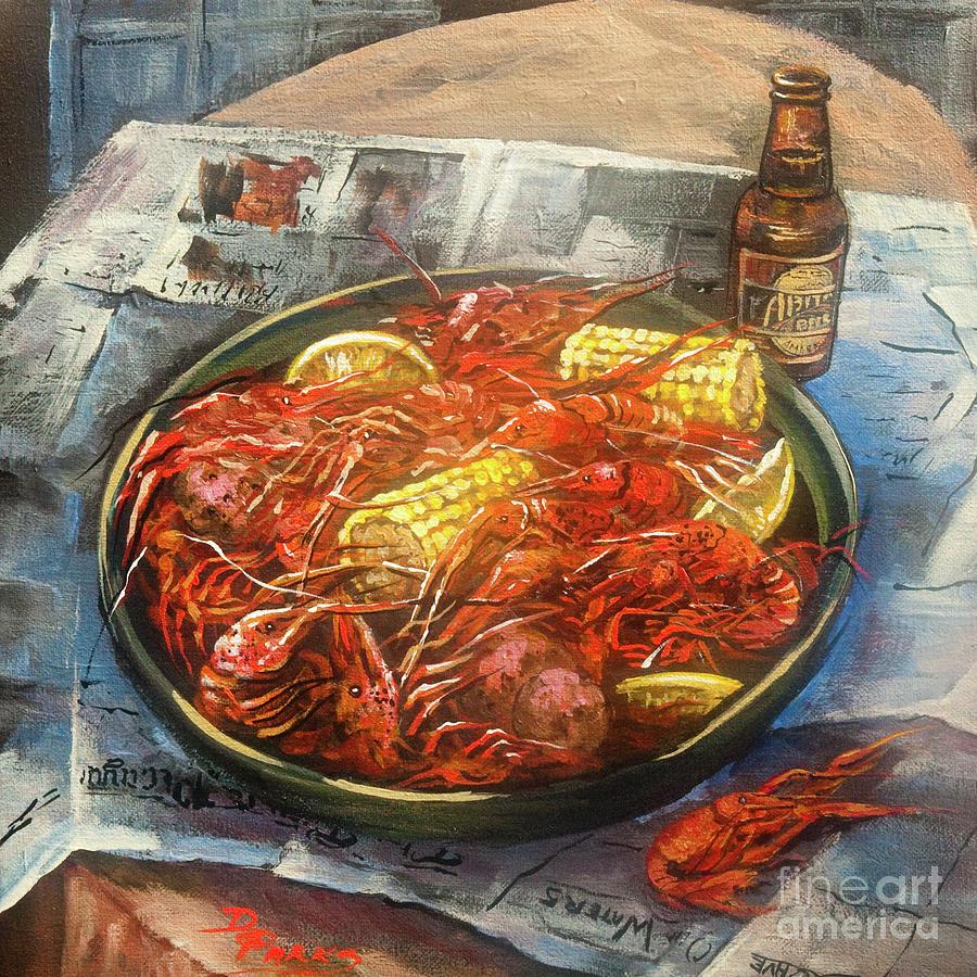 Crawfish Celebration Painting