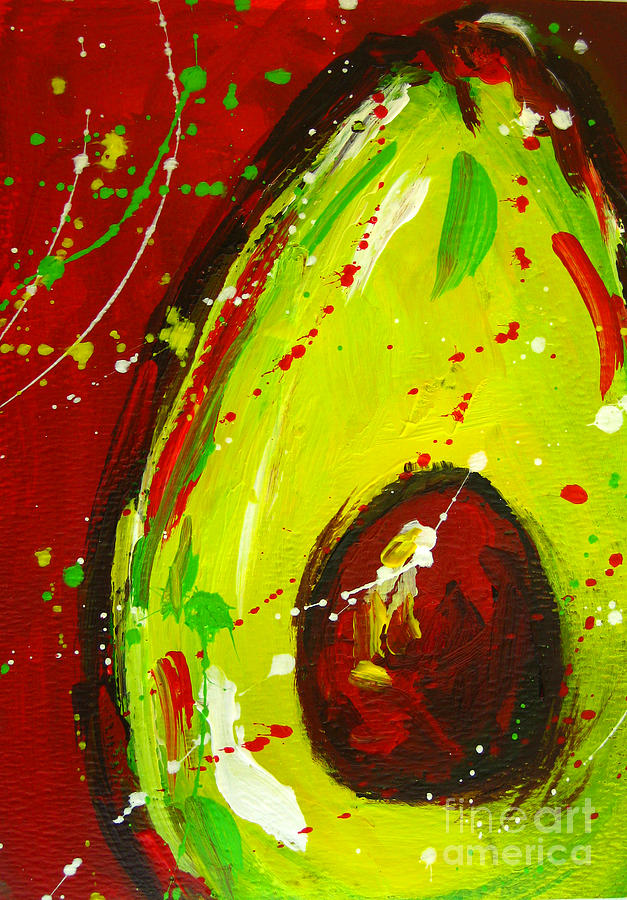 Crazy Avocado 3 Painting  - Crazy Avocado 3 Fine Art Print