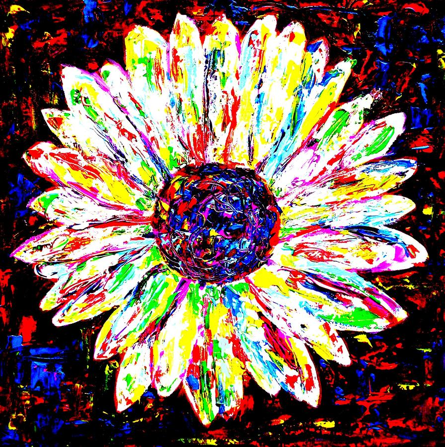 Crazy Daisy Painting by Mike OBrien