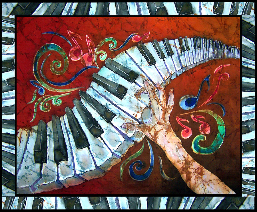 Crazy Fingers- Piano Keyboard - Bordered Painting