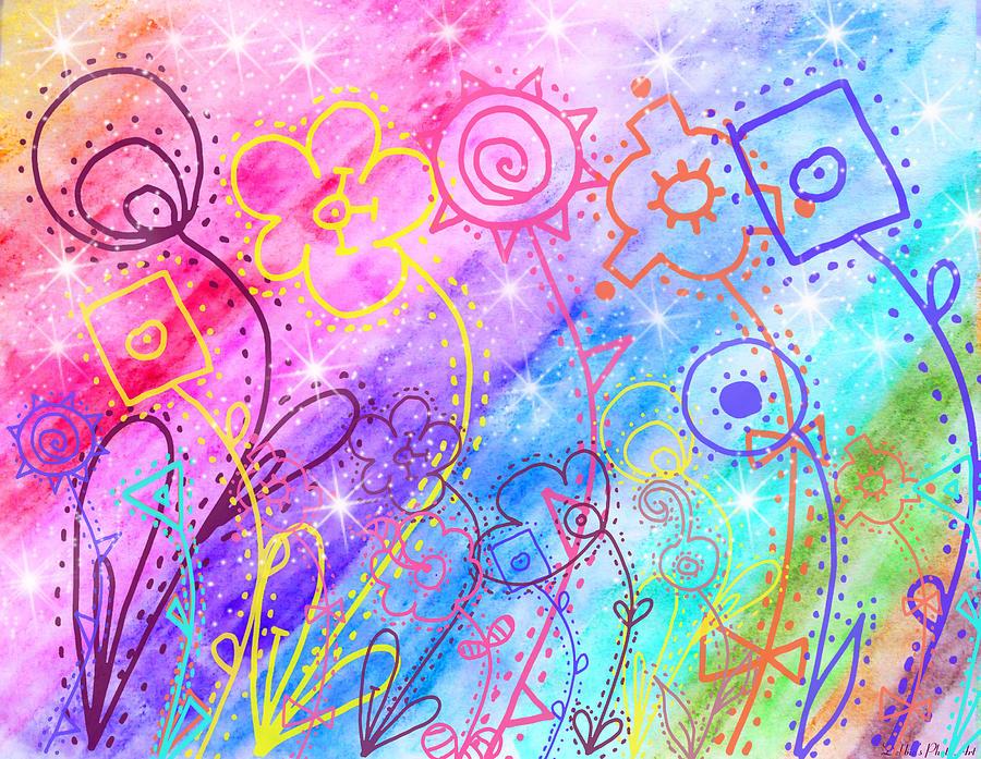 Crazy Flower Garden Painting