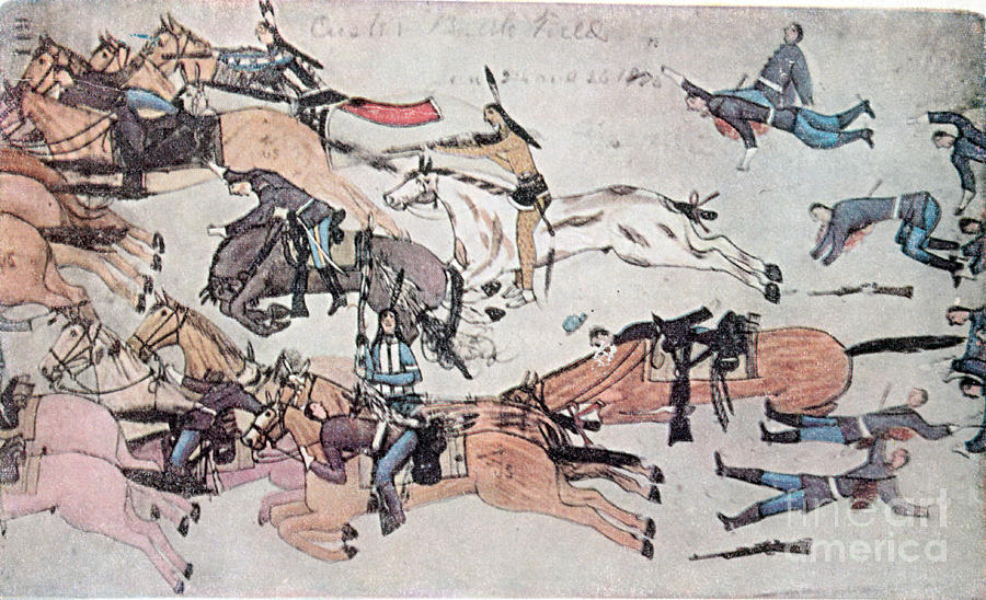 Crazy Horse At The Battle Of The Little Photograph