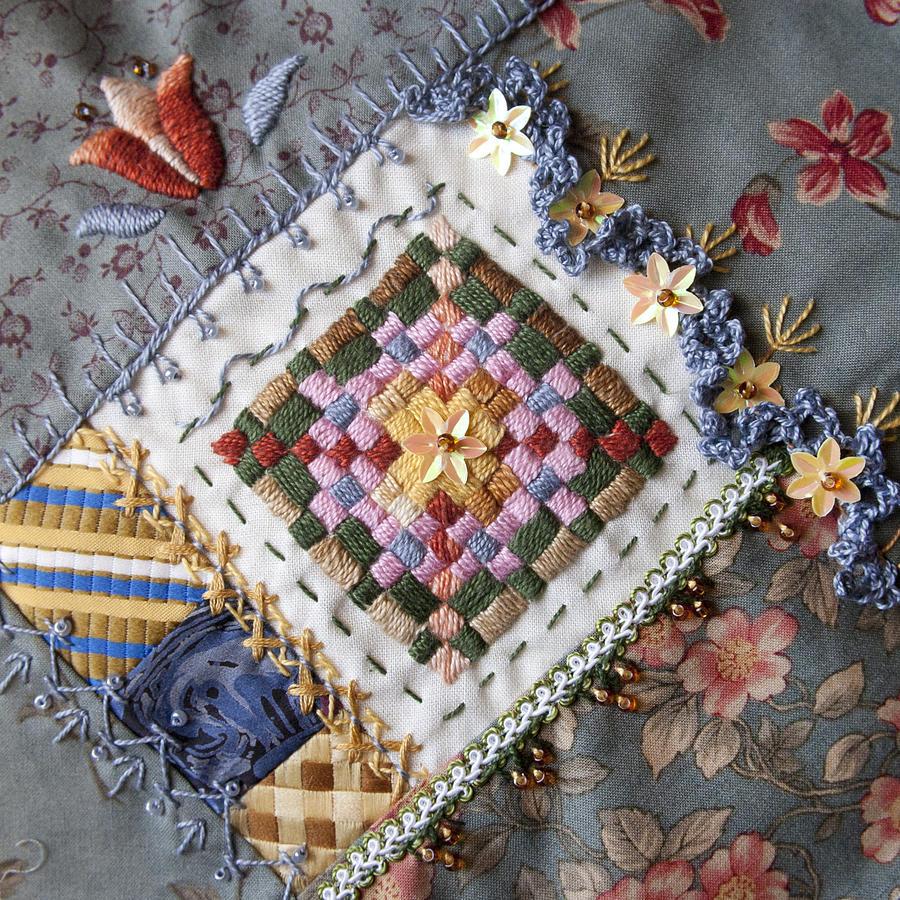 Crazy Quilt Block 4 By Masha Novoselova