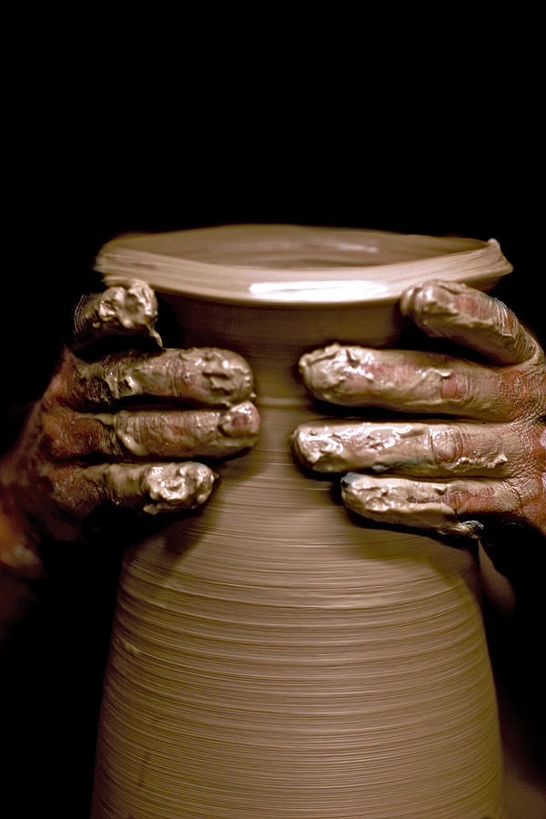 Creation At The Potters Wheel Photograph