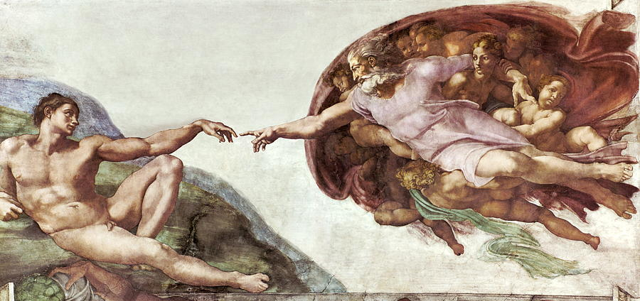 Creation Of Adam Photograph