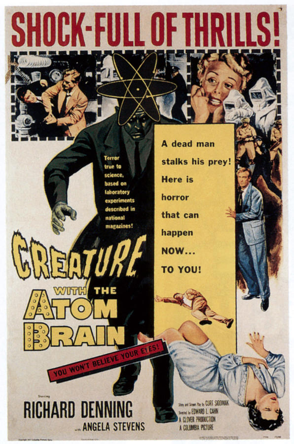 1950s Poster Art Photograph - Creature With The Atom Brain, Center by Everett
