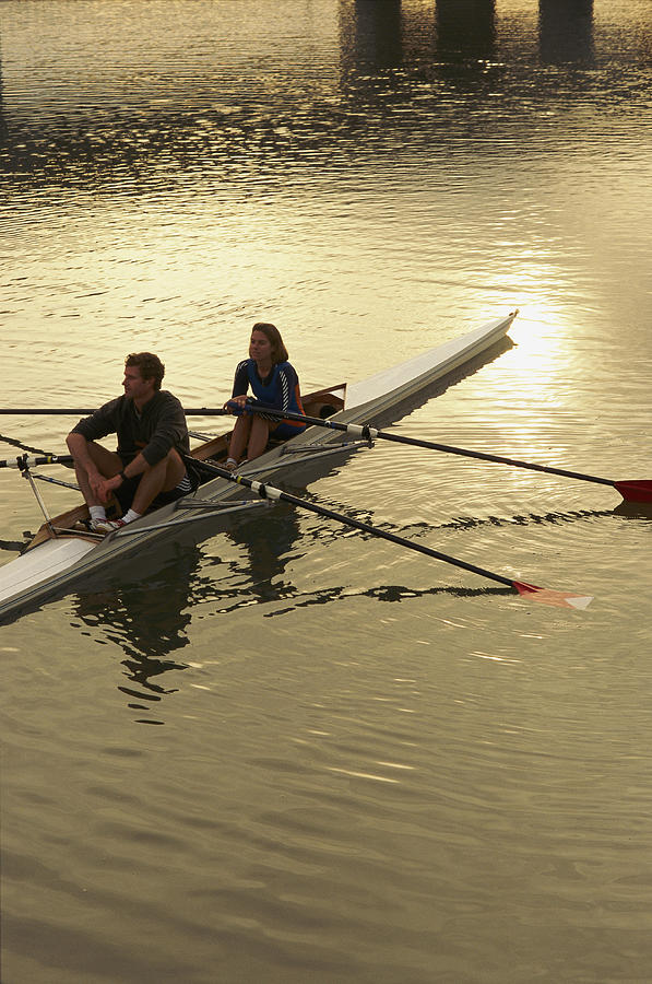Crew Model Released Rowers Take A Break Photograph  - Crew Model Released Rowers Take A Break Fine Art Print