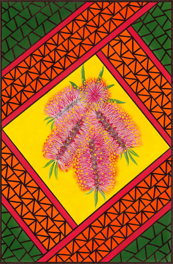 Crimson Bottlebrush Painting  - Crimson Bottlebrush Fine Art Print