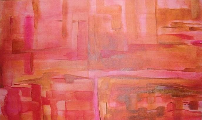 Crimson Painting - Crimson Sky by Derya  Aktas