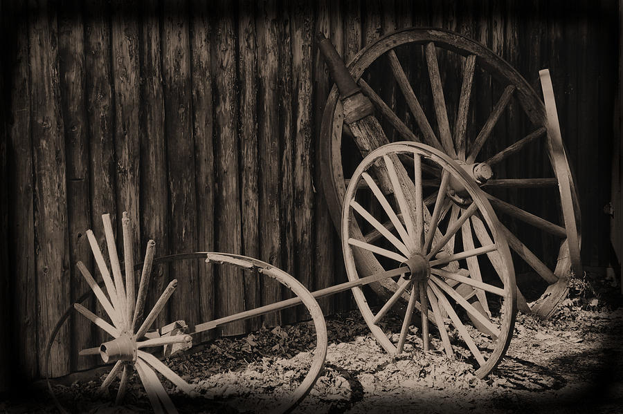 Crippled Wheels Photograph  - Crippled Wheels Fine Art Print