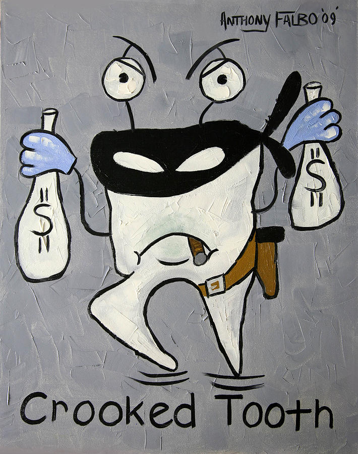 Crooked Tooth Painting  - Crooked Tooth Fine Art Print