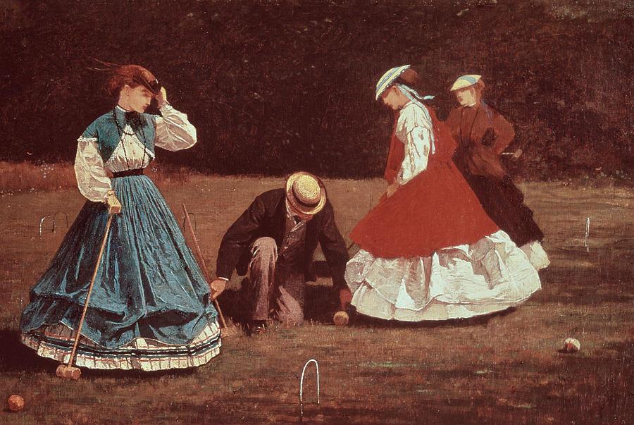 Croquet Scene Painting