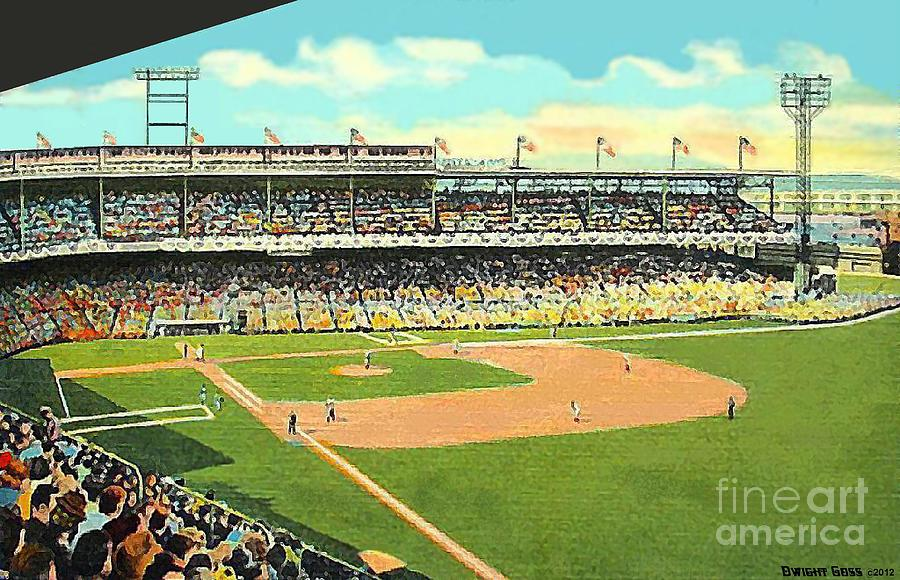 Crosley Field Baseball Stadium In Cincinnati Oh Painting