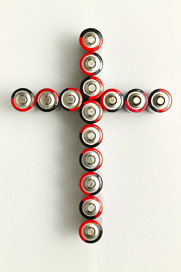 Cross Photograph - Cross Batteries 1 A by John Brueske