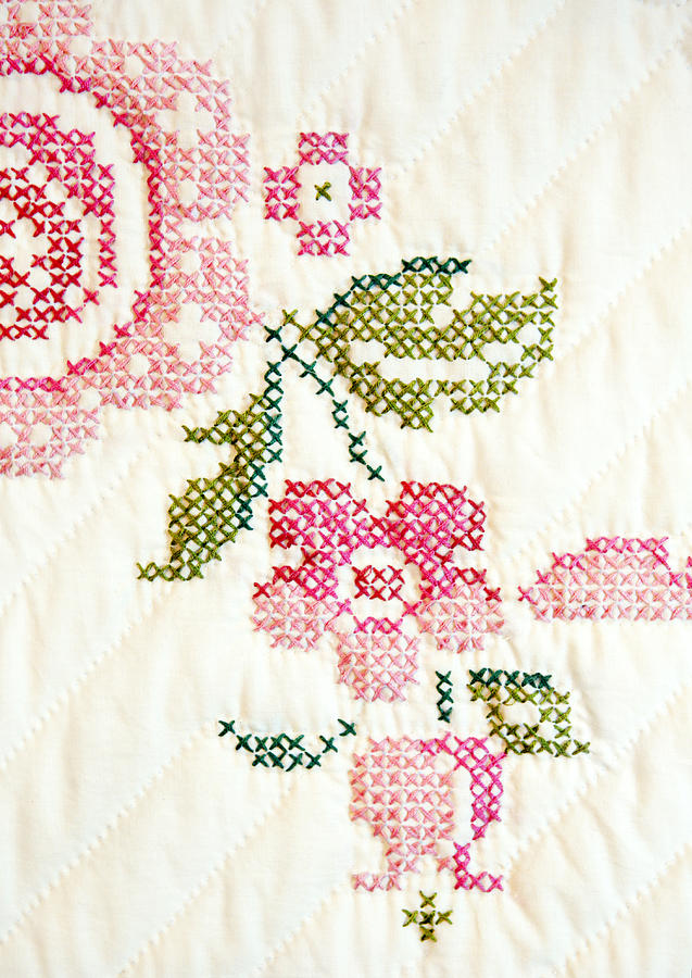 Cross Stitch Flower 1 Photograph
