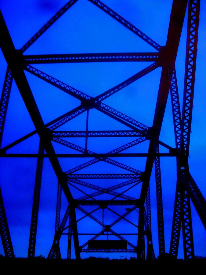 Crossing Over In Blue Painting  - Crossing Over In Blue Fine Art Print