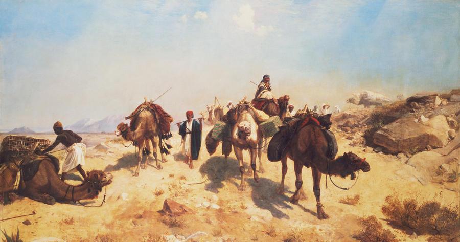 Crossing The Desert Painting