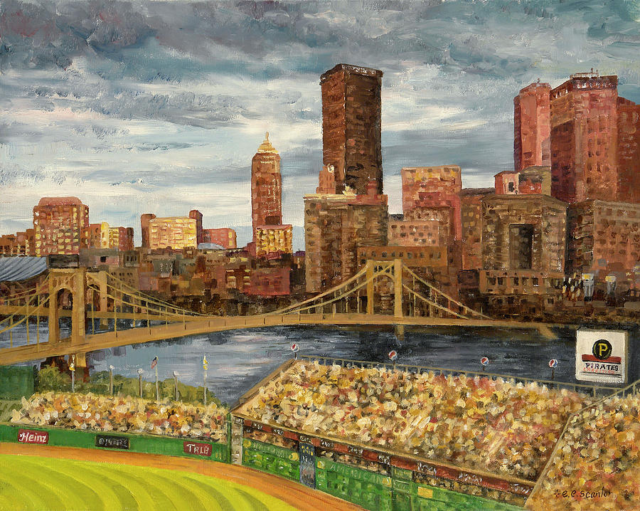 Crowded At Pnc Park Painting