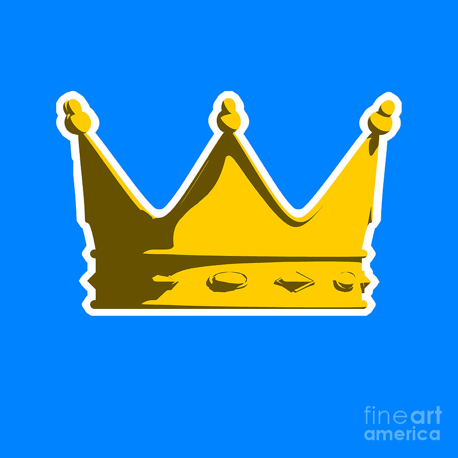 Crown Graphic Design Digital Art  - Crown Graphic Design Fine Art Print