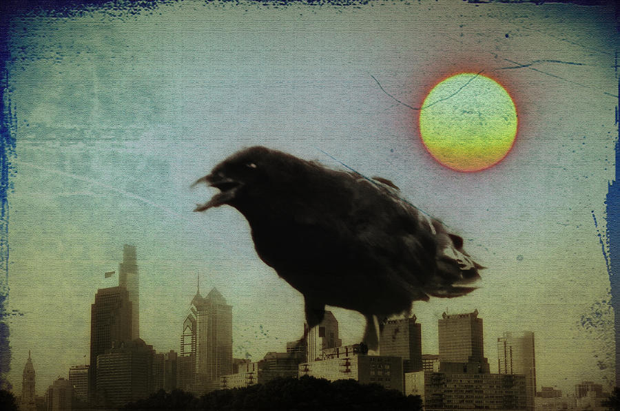 Crowzilla Photograph  - Crowzilla Fine Art Print