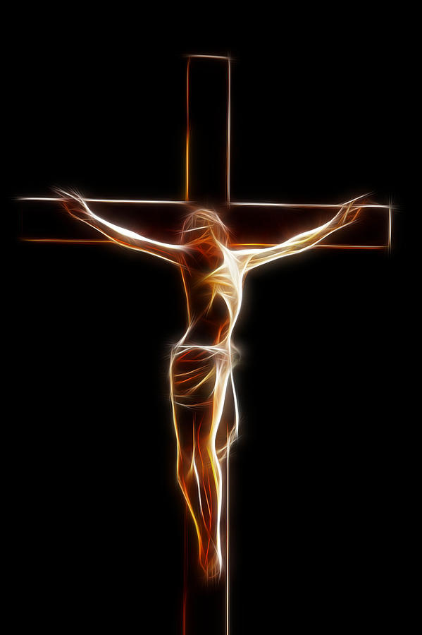 Crucified Jesus Digital Art