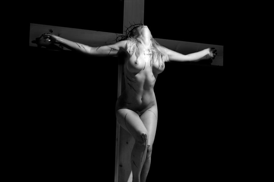 Crucified Woman Photograph by Ramon Martinez   Crucified Woman