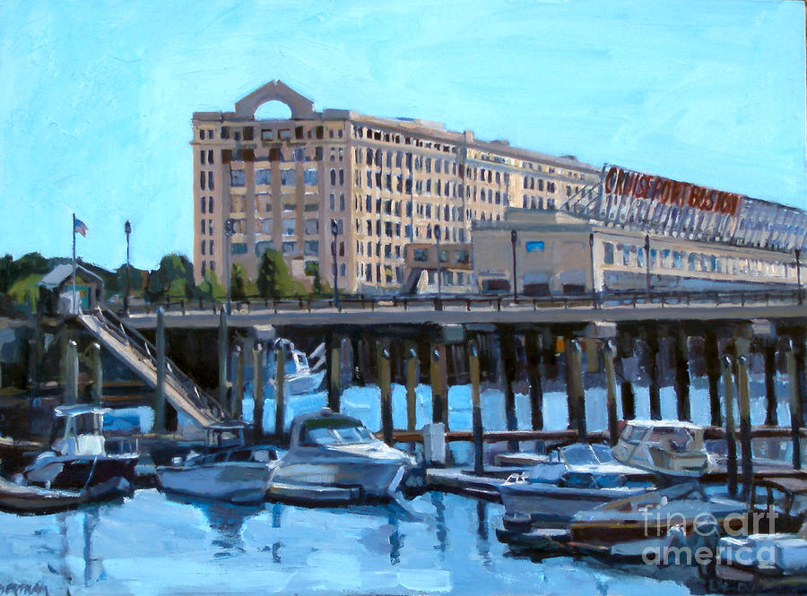 Cruiseport Boston Painting  - Cruiseport Boston Fine Art Print