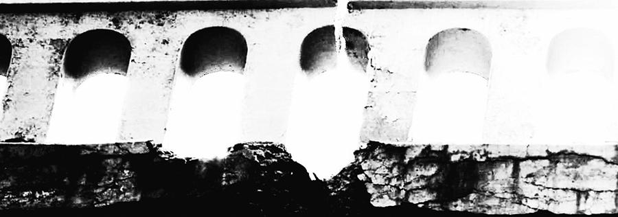 Digital Photograph Drawing - Crumbling Stonework  by Howard Perry