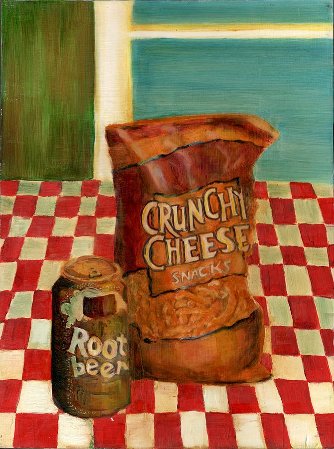 Crunchy Cheese - Summer Painting  - Crunchy Cheese - Summer Fine Art Print