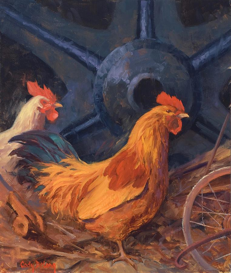 Crusin For Chicks Painting  - Crusin For Chicks Fine Art Print